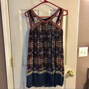 Patterned strappy dress
